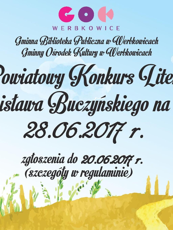 V Powiatowy Konkurs Literacki im. Stanisława Buczyńskiego na bukolikę