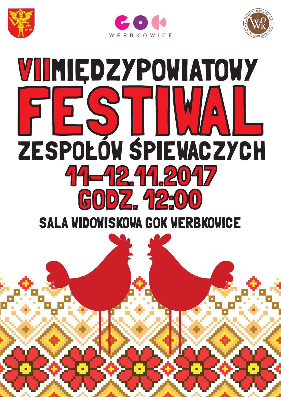 VII Międzypowiatowy Festiwal Zespołów Śpiewaczych - zaproszenie