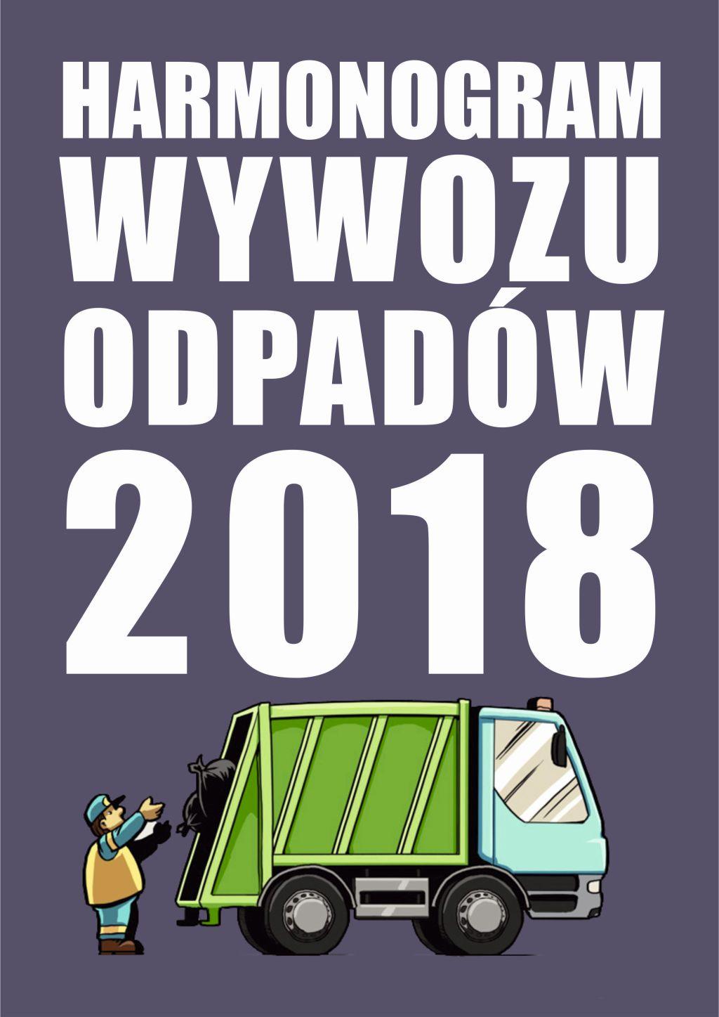 Harmonogram wywozu odpadów 2018