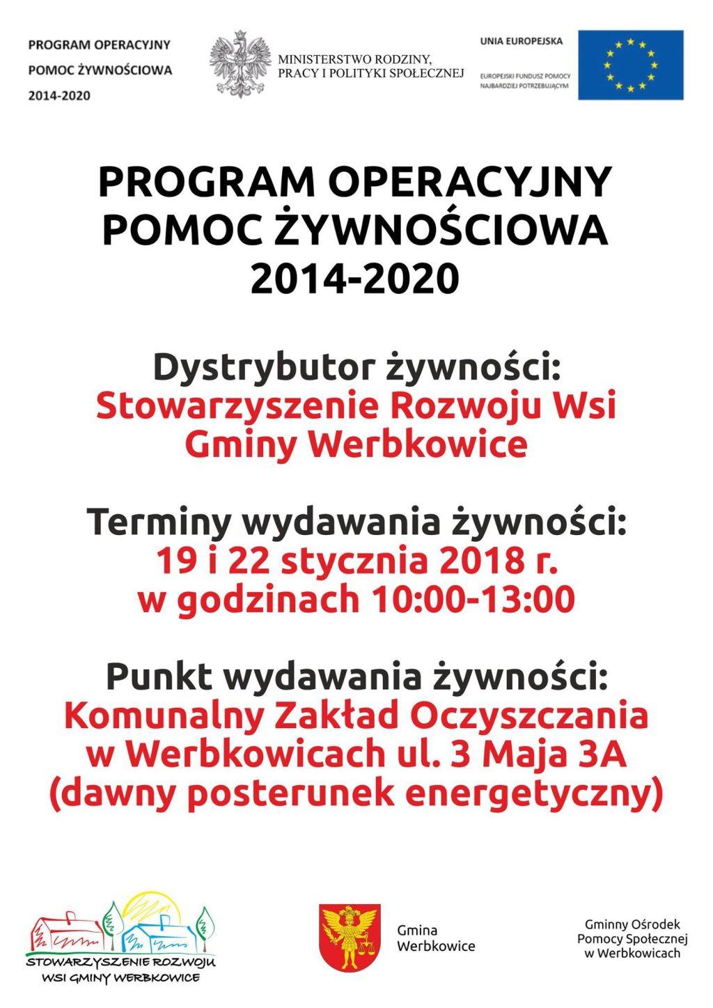 Druga transza dystrybucji żywności POPZ 2014-2020
