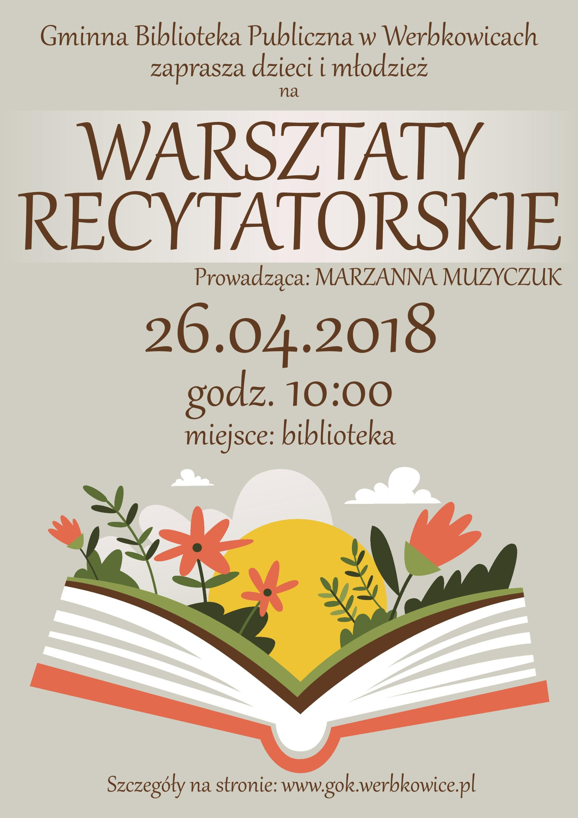 Zapraszamy na Warsztaty recytatorskie