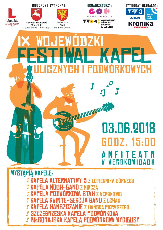 Zapraszamy na IX Wojewódzki Festiwal Kapel Ulicznych i Podwórkowych