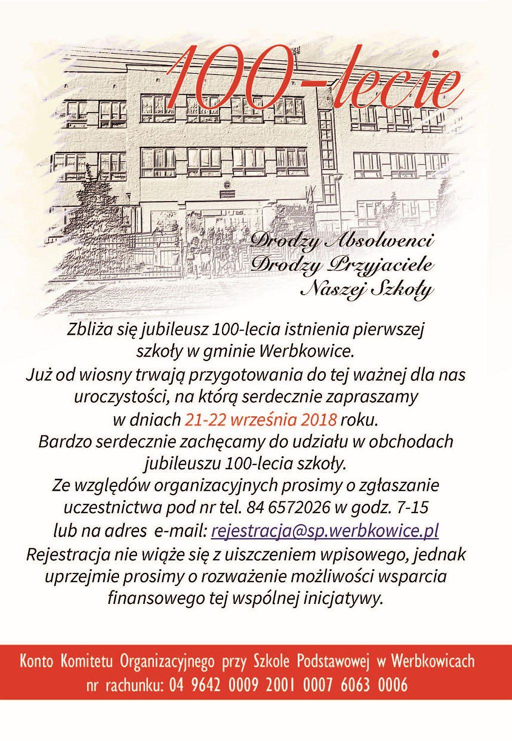 Jubileusz 100-lecia szkoły w Werbkowicach