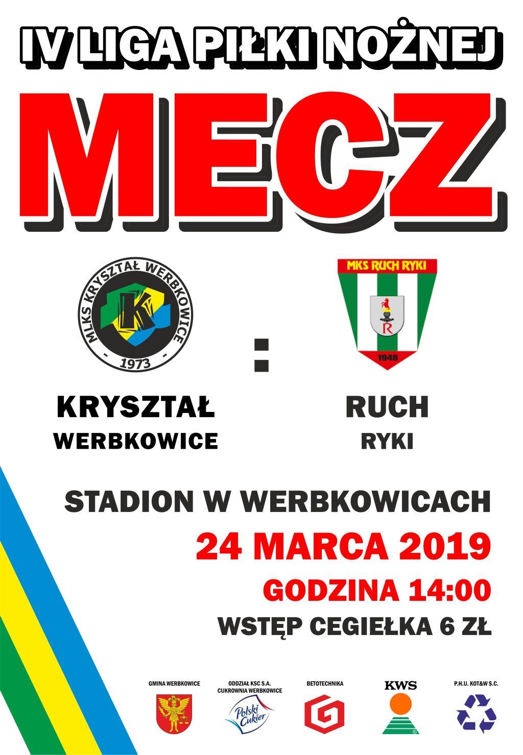 IV liga piłki nożnej - Mecz Kryształ Werbkowice