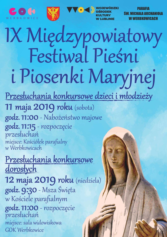 IX Międzypowiatowy Festiwal Pieśni i Piosenki Maryjnej - Werbkowice 2019
