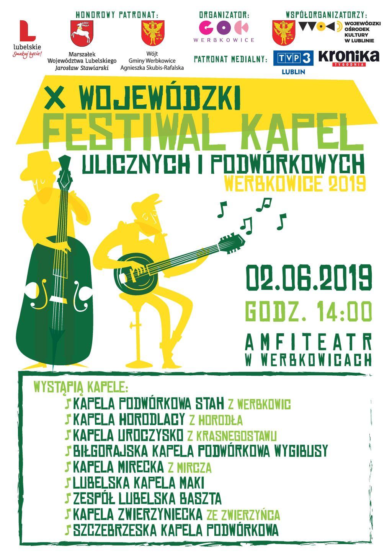 Zapraszamy na Jubileuszowy X Wojewódzki Festiwal Kapel Ulicznych i Podwórkowych